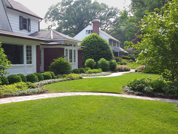 Manicured Front Lawn and Garden